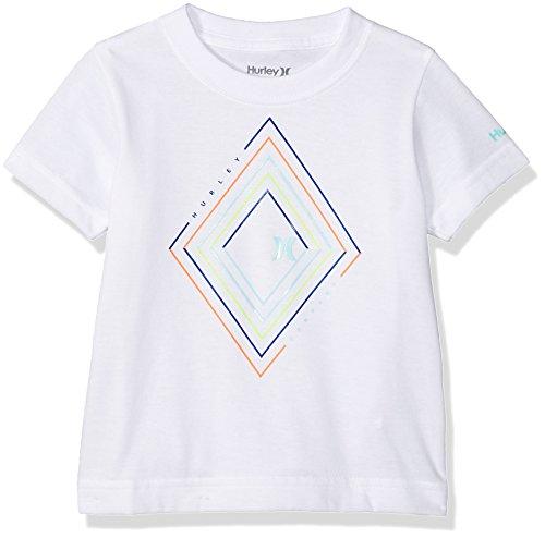Hurley Toddler Boys' Geo Graphic T-Shirt, White Diamond, (7 Diamonds Kids Shirt)