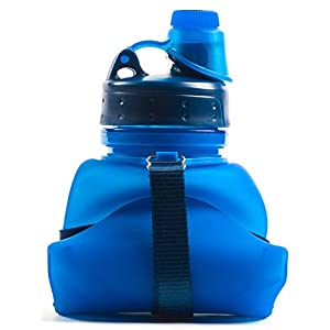 Freeday Gear Collapsible Water Bottle - 2 Leakproof Lids - 17 ounces - BPA Free