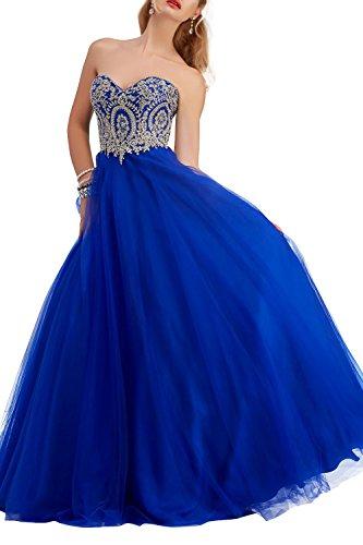 Brautmutterkleider Abendkleider Festlichkleider Tuell Brau Langes Royal Dunkel Tanzenkleider mia Blau La Spitze Partykleider Promkleider RwYnp