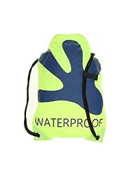 geckobrands Waterproof Drawstring Backpack- Green/Navy