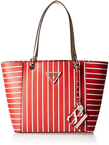 GUESS Kamryn Red Stripe Tote product image