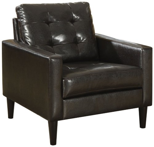 ACME Balin Espresso Faux Leather Accent Chair