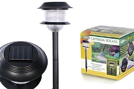 Lampada torcia solare da esterno giardino crepuscolare luce a led