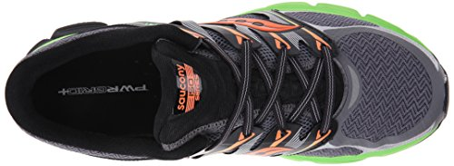 Saucony Zealot - Zapatillas de Running Unisex Gris (Grey / Sline / Orange)