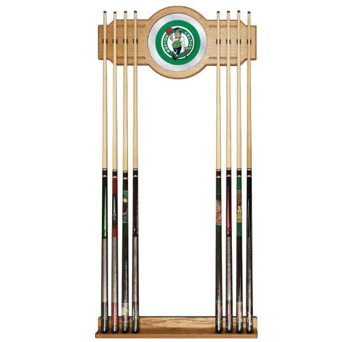 Trademark Gameroom NBA Boston Celtics Billiard Cue Rack with Mirror