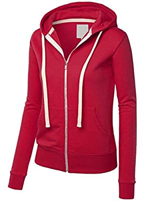 "Littlebee ""Active Soft"" Zip Up Fleece Hoodie Jacket with Leather"