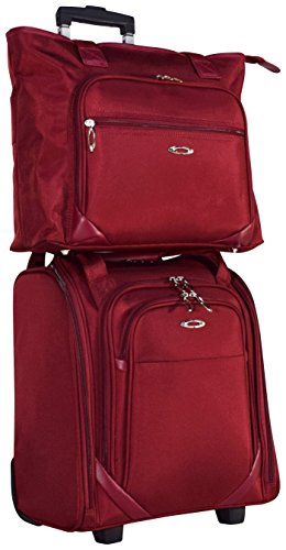 [Kemyer Computer Underseater and Tote (2 Piece) (Berry)] (Wheeled Boarding Tote)