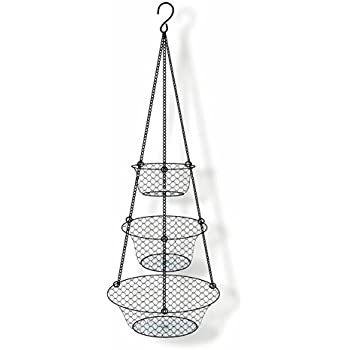 3 Tier Hanging Basket, Storage Organizer For Fruits,Vegetables,  Accessory,Perfer