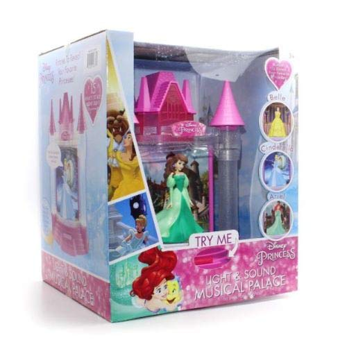 Belle Disney Lamp - Playthings Disney Princess Light & Sound Musical Palace - Belle, Cinderella & Ariel