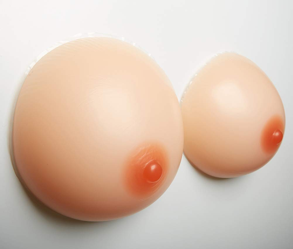 Round Shape Silicone Breasts Forms Mastectomy Enhancer Lifelike Fake Breast for Crossdresser Transgender,2800G/8XL/Cupgg/7.9 * 7.5 * 3.7Inches