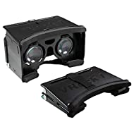 Archgon Black Foldable Google Cardboard 3D Virtual Reality Glasses DIY Kit for 4.2 ~ 5.2 inches Smartphone W/Adjustable Lens & Strap – Black
