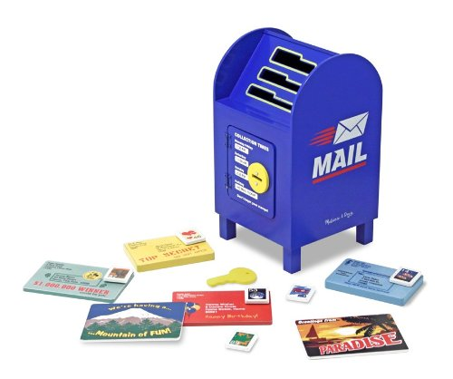 Melissa & Doug Stamp and Sort Wooden Mailbox Activity and Toy