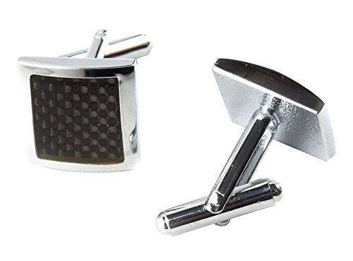 FOONEE Classic Cufflinks With Black Enamel