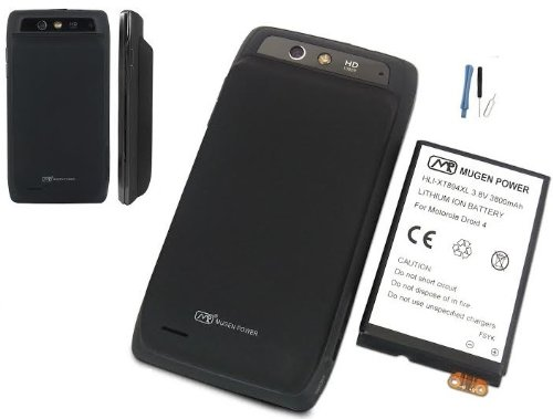 Mugen Power Extended Life Battery for Motorola Droid 4 XT894 Verizon 3800mah