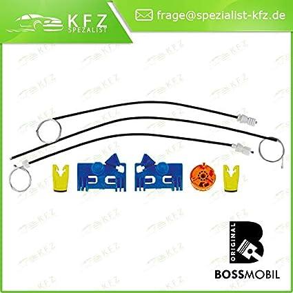 Bossmobil LAGUNA (BG0/1_), LAGUNA 2 II Grandtour (KG0/1_), Delantero izquierdo, kit de reparación de elevalunas eléctricos
