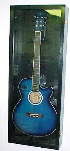 Guitar Display case Wood Acoustical Guitar Display Case Black