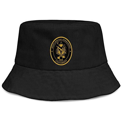 Durable Bucket Hats for Women Cotton Unisex Packable Beach Sun Hat Fisherman Florida Joint Special Operations Command Wide Brim Caps