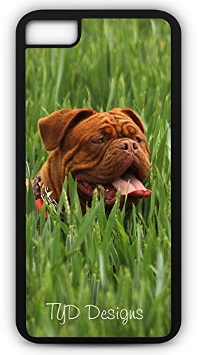 iPhone 7 Case Red Bordeaux Dog French Mastiff Brachycephalic Molossoid Type Customizable by TYD Designs in Black Plastic