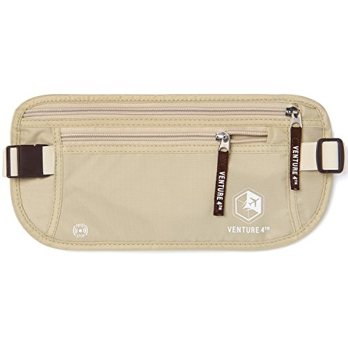 VENTURE 4TH Undercover Money Belts for Travel (Beige) by VENTURE 4TH