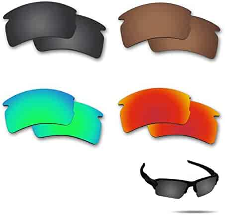 e9dae6a1ae Fiskr Anti-saltwater Polarized Replacement Lenses for Oakley Flak 2.0 XL  Sunglasses 4 Pairs