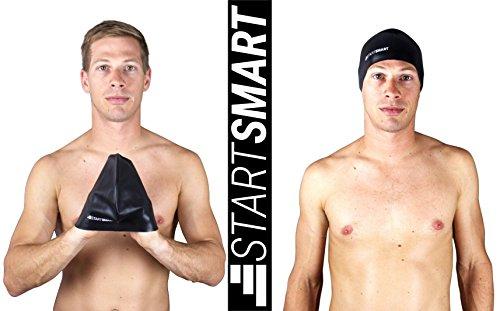Start Smart Sports Premium Anti Slip Silicone Swim Cap, Black