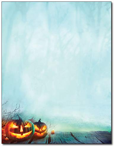 Halloween Themed Writing Paper (Enchanted Pumpkins Letterhead Paper - 80)