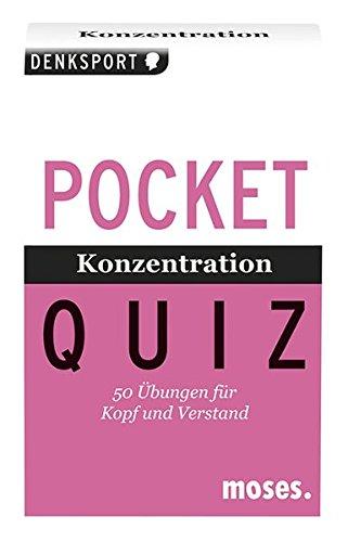 Konzentration. Pocket Quiz: 50 Übungen für Kopf und Verstand
