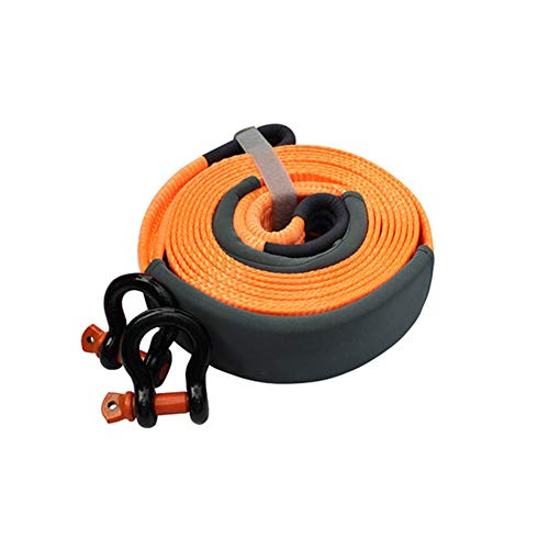 FLB Traction Belt Tow Rope Heavy Vehicle Traction Belt Reinforcement Ring Protection Waterproof casing Emergency Traction...