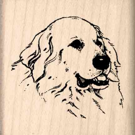 Stamps by Impression Great Pyrenees Rubber Stamp