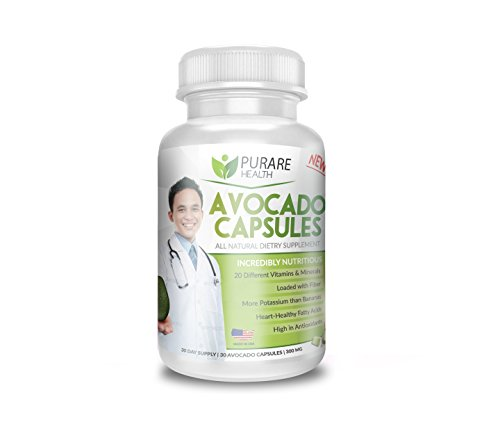 Purare Health Avocado Capsules 100% All Natural Dietary Supplement for Lowering Cholesterol and Triglyceride Levels (1)