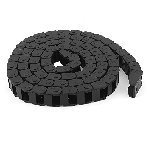 Fevas New 1.5M/ 4.9Ft Nylon Cable Drag Chain Non-Opening 10 x 15mm / 15 x 22mm Bending Radius 28mm Transmission Drag Chain for Machine ()