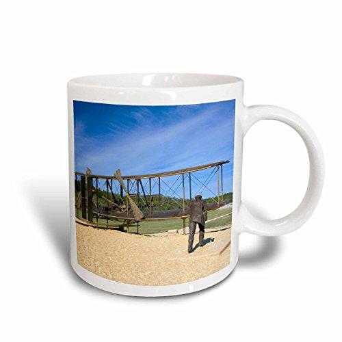 - 3dRose 93243_1 Wright Brothers National Monument North Carolina-Us34 Dfr0013-David R Frazier Ceramic Mug 11 oz White