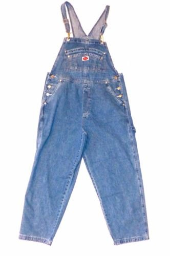 Revolt Women's Plus Size Denim Jean Blue Overalls Size 18