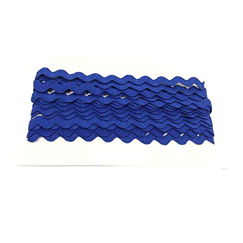 Rick Rack Trim 12mm Width Polyester Baby Ric Rac Trim Blue, 5M per Cards