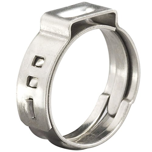 Cambridge Pex Cinch Rings 1/2 Inch, Open Diameter 17.5 mm, 100 Pcs, 304 Stainless Steel by Cambridge Resources