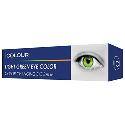iCOLOUR Color Changing Eye Balm - Change Your Eye Color Naturally - 1 Month Supply - 4.3 g (Light Green) -