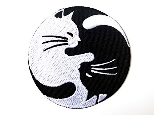 Tyga_Thai Brand Cat Yin Yang Kung Fu Chinese Tao Balance Sign Symbol Logo T-Shirt Costume DIY Applique Embroidered Sew Iron on Patch -