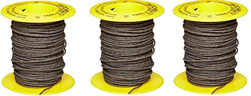 Mitchell Abrasives 52 Round Abrasive Cord, Aluminum Oxide 150 Grit .055'' Diameter x 50 Feet (3-(Pack))