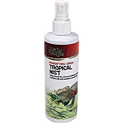 Zilla Reptile Health Supplies Tropical Mist Humidifying Spray, 8-Ounce