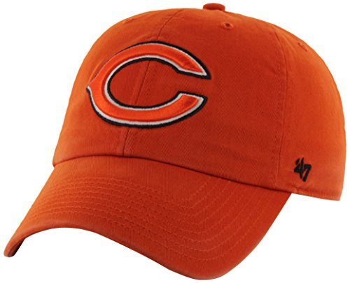 (NFL Chicago Bears '47 Brand Clean Up Adjustable Hat, Orange, One Size)