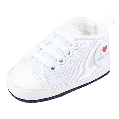Fire Frog Winter Sneaker - Zapatos primeros pasos de Lona para niño blanco