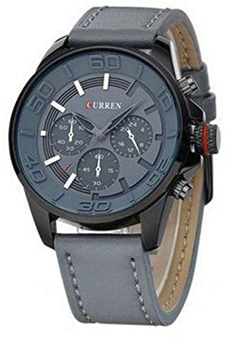 Curren for Men's Analog Leather Watch