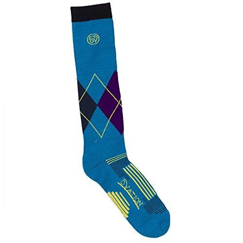 Ovation Argyle DX KH Sock (Blue, L911) - Ovation Socks