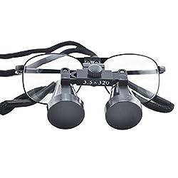 Careshine High-end Luxury Dental Metal Surgical Medical Binocular Loupes 3.5X 320mm Optical+ Carry bag