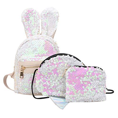 Girls School Bags Kids Bookbags Teens Bookbag Set Children Backpack Set with Schoolbag Lunch Bag Pencil Case & LYN Star☪