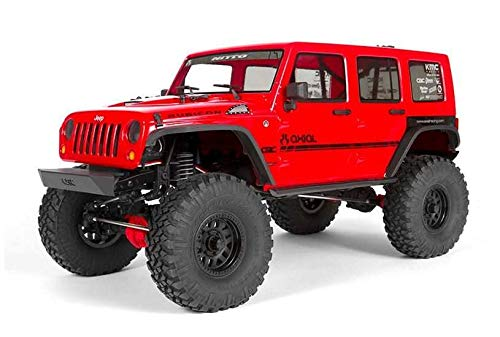 Axial SCX10 II '17 Jeep Wrangler Unlimited CRC 4WD RC Rock Crawler Off-Road 4x4 Electric RTR with 2.4GHz Radio, Waterproof ESC, LED Lights, 1/10 Scale