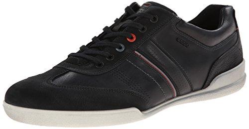 Retro Mens ECCO Enrico Black Sneaker wU4fd4Eq