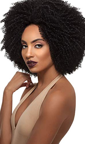 Outre Big Beautiful Hair Synthetic Lace Front Wig 4C-COILY Color 1B Off Black (Wig Beautiful)