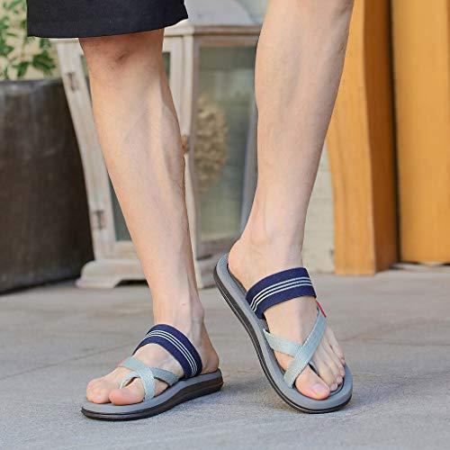 Naladoo Men Women Beach Flip Flops Flat Sandals Summer Outdoor Slip-On Slippers by Naladoo Men's Shoes (Image #4)