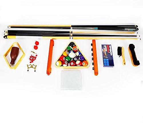 OUBAYLEW - Kit de Accesorios Completo con Tacos, Bolas de Billar Triangulares para Mesa de Billar: Amazon.es: Deportes y aire libre